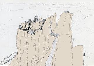 historické foto hradu neurathen