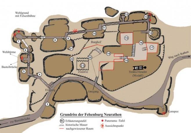plánek hradu neurathen