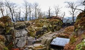 pohled na prohlídkový okruh hradu neurathen